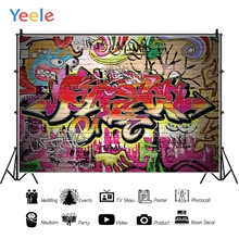 Yeele Decadent Graffiti Wall Grunge Abstract Clown Personalized Photographic Backdrops Photography Backgrounds For Photo Studio