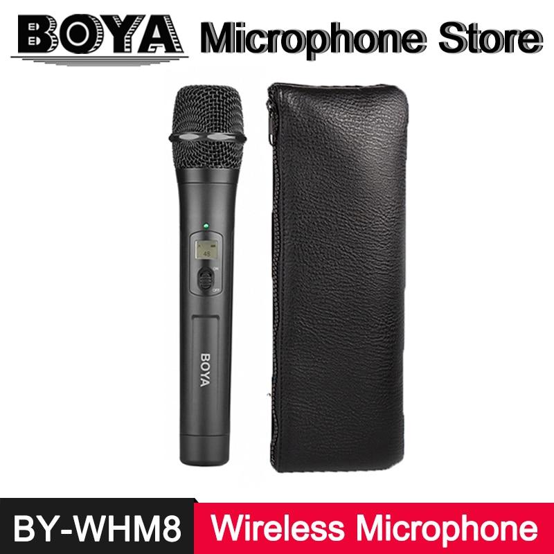 BOYA BY-WHM8 UHF Wireless Handheld Unidirectional Dynamic LCD Microphone Transmitter for BY-WM6 BYB-WM8 Receiver BY-WM6R BY-WM8R цена