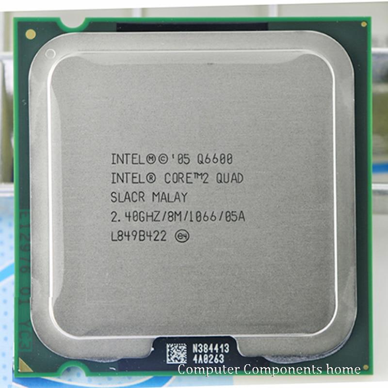 intel core 2 Q6600 CPU Processor (2.4Ghz/ 8M /1066GHz) Socket LGA 775 Desktop CPU free shipping desktop cpu 939 socket tester cpu socket analyzer dummy load fake load with led