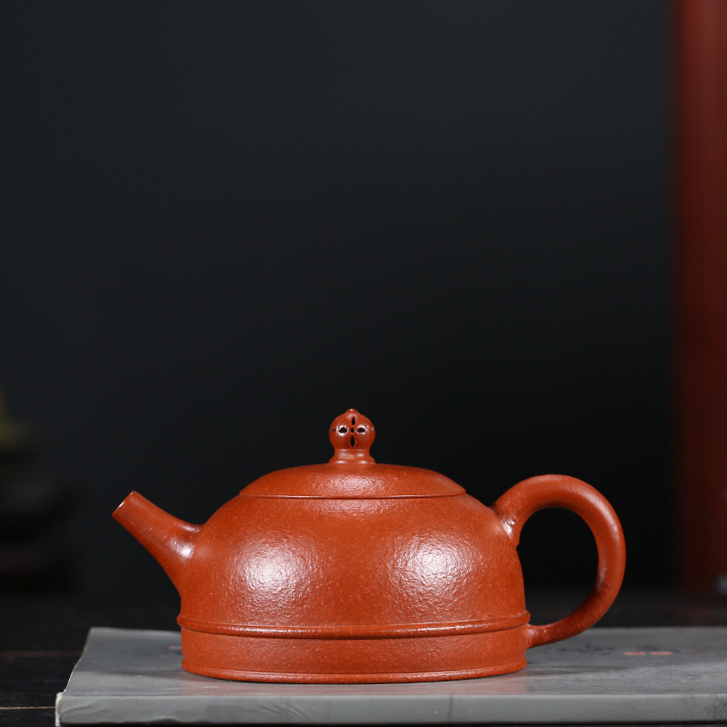 Pottery Teapot Famous Kettle Raw Ore Cinnabar Crewel Half A Month Kettle Quality Goods Yixing Full Manual Teapot Tea SetPottery Teapot Famous Kettle Raw Ore Cinnabar Crewel Half A Month Kettle Quality Goods Yixing Full Manual Teapot Tea Set