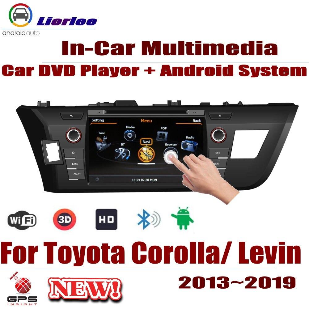 Carro Sistema Android RockChip PX5 1080 P IPS LCD Tela Para Toyota Corolla (E170) /Levin 2013 ~ 2019 DVD Player GPS de Navegação
