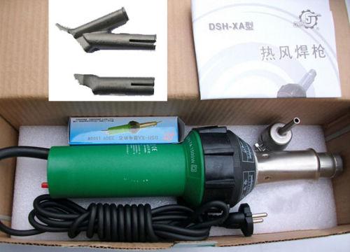 1500W 220V Hot Air Torch Plastic Welding Gun Welder Pistol Plastic Welding machine with 3 Speed Nozzles|plastic welding machine|plastic welding|hot air torch - title=