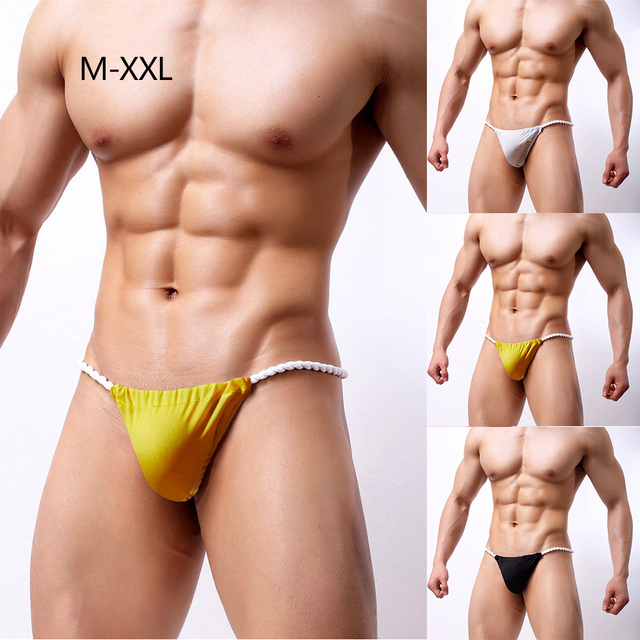 91a45cb8df Men Sexy Underwear Air Breathable Underpants G String Thong Bulge Pouch  Panties Micro Bikini T back Underwear Pants Brief-in Briefs from Underwear  ...