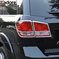 For Dodge Journey JCVU JC For Fiat Freemont 2012 2013 2014 Chrome Rear Taillight Sticker Cover Tail Light Lamp Trim Car Styling