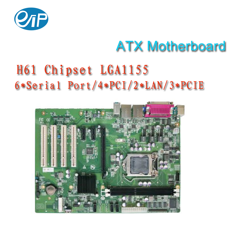 H61Chipset  LGA1155 industrial  Motherboard with 6*Serial port/4*PCI/2*LAN/3*PCIE