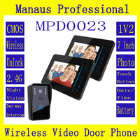 Wholesale High Quality 7 TFT 2 4G Wireless Video Door Phone Intercom Doorbell Home Security 1
