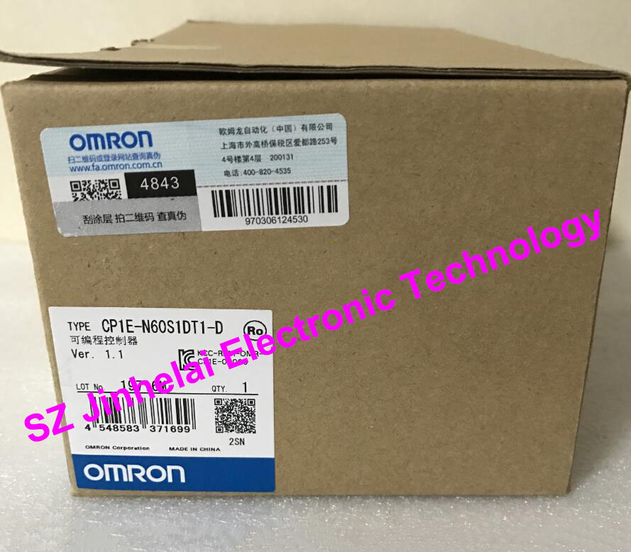 OMRON PLC  CP1E-N60S1DT1-D  New and original dhl ems 1pc new omron plc c200hw bi031 xtxr a2