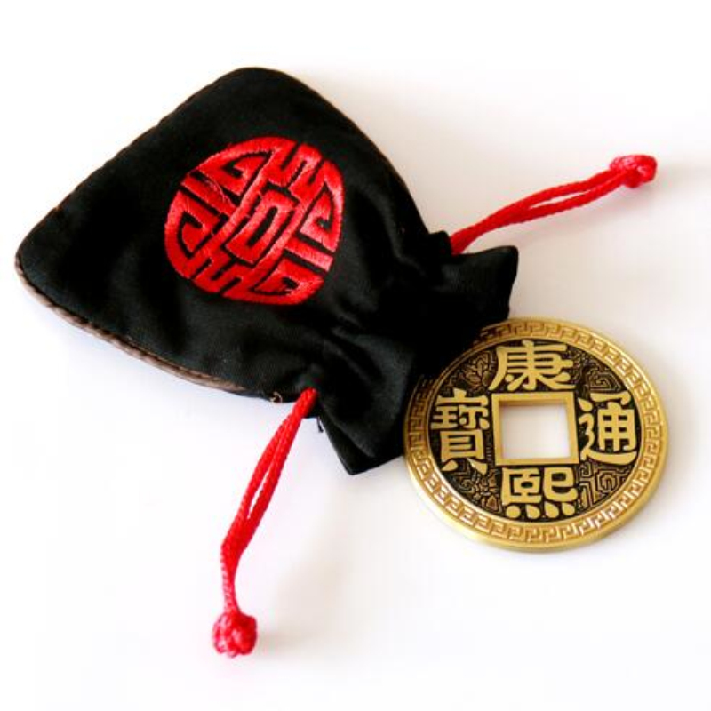 Only Jumbo And Bag For Chinese LUOHANQIAN Coin Magic Tricks Magic Toys