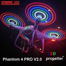 DJI Phantom 4 Pro Low Noise Propellers LEDแฟลชใบพัดสำหรับDJI Phantom 4 Series/ Phantom 4 Pro V2.0 droneจัดส่งฟรี