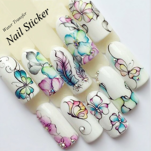 Online shop 1 sheet water decals nail art stickers flowers cartoon 1 sheet water decals nail art stickers flowers cartoon 2017 new designs watermark transfer red colorful manicure sastz501 512 prinsesfo Images