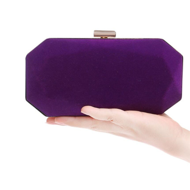 Candy Color Suede Lady Clutch Hand Bags 2016 Winter New Fashion Star Late Outfit Bag Exquisite Dinner Purse with Chain ZD427