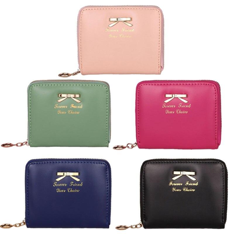 Top Quality Fashion Women Fashion Cute Purse Clutch Wallet Short Small Bag PU European minimalist design Card Holder A#TJ