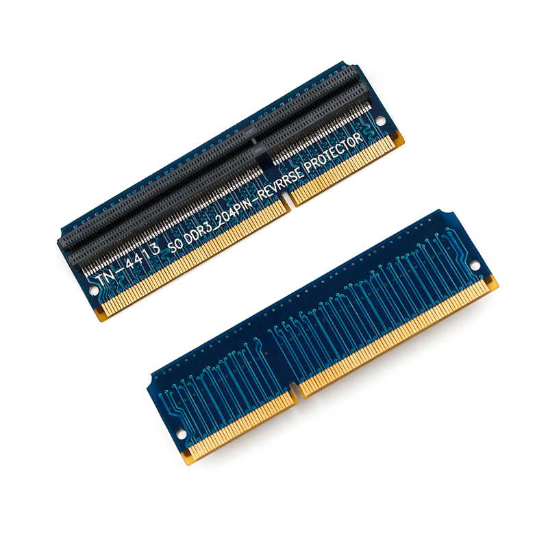 204PIN DDR 3 Reverse Protector DDR3 SO DIMM Adapter Converter Card Raiser  SO DIMM DDR3 Memory Ram Tester Post Card for Computer