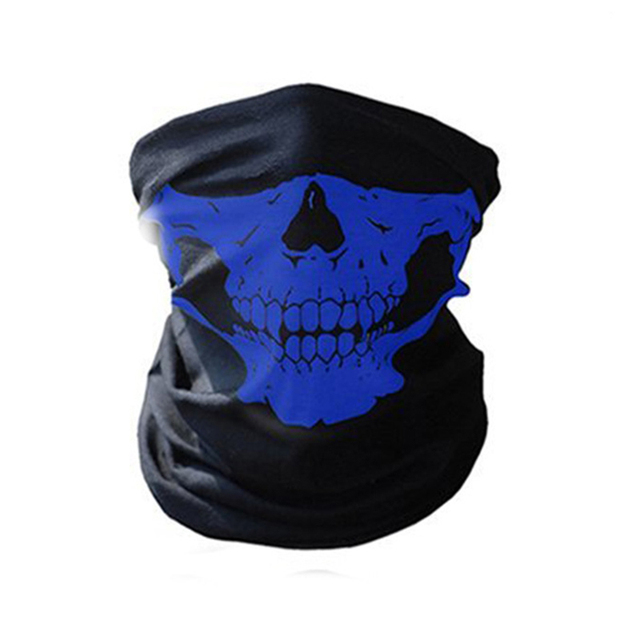Full Face Motorcycle Face Shield winter Balaclava Face Mask Ghost Tactical Mask 3D Skull Sport Mask Neck Warm Windproof Outdoor 4
