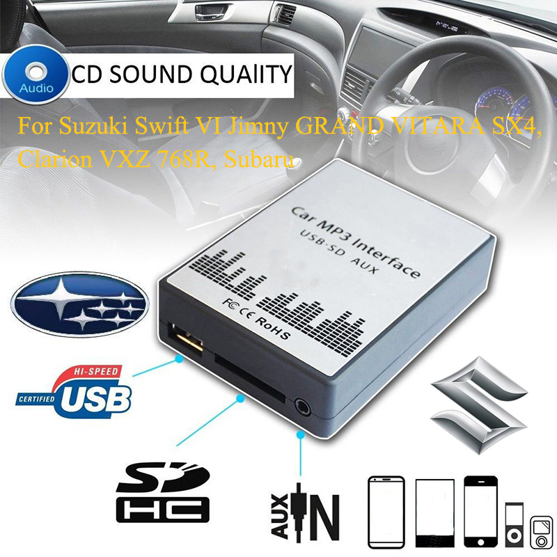 SITAILE USB SD AUX car MP3 music player Adapters for Suzuki Grand Vitara sx4 Swift Vitara for Subaru Mcintosh Car-styling цена