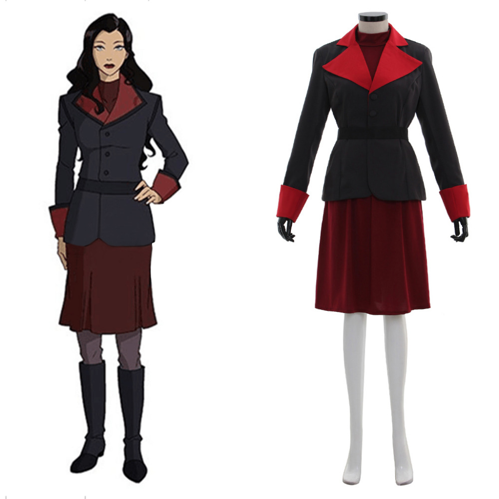 Avatar The Legend of Korra Asami Sato Cosplay Costume adult female outfit custom made