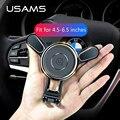 Автомобильный держатель для телефона USAMS, автомобильный держатель для iPhone, samsung, Xiaomi, Гравитационный держатель для мобильного телефона - фото