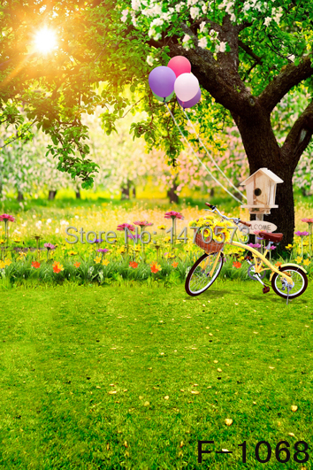 Free Digital Natural Spring Scenic Background F 1068