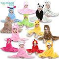 13 diseña el Baby Boys Girls capucha Animal modelado capa de dibujos animados los niños albornoz toalla chico de terciopelo de Coral toallas de baño