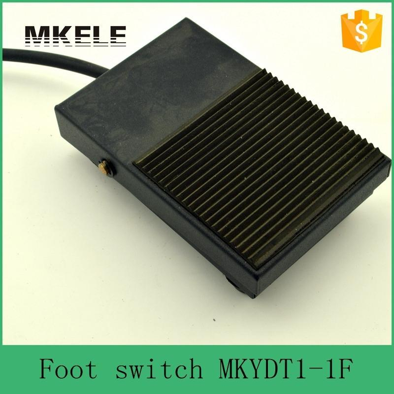 MKYDT1-1F factory Direct Price SPDT NO/NC Nonslip Rubber Metal Momentary Power Foot Switch Pedal Foot switch from china factory ac 250v 15a nonslip no nc momentary single action foot switch green