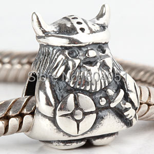 1PCS/lot 925 Antique Sterling Silver European Caribbean Viking Charms Beads fit Pandora Style Bracelet