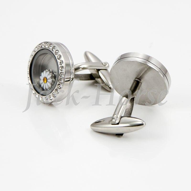 Новейшие открытые водонепроницаемые Запонки-медальоны! 316 запонки с кристаллами из нержавеющей стали высокого качества