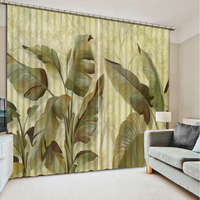 Top Quality 3D Printing Curtains Lifelike Blackout Cortians Beautiful Full Light Shading Bedroom Livng Room Curtains