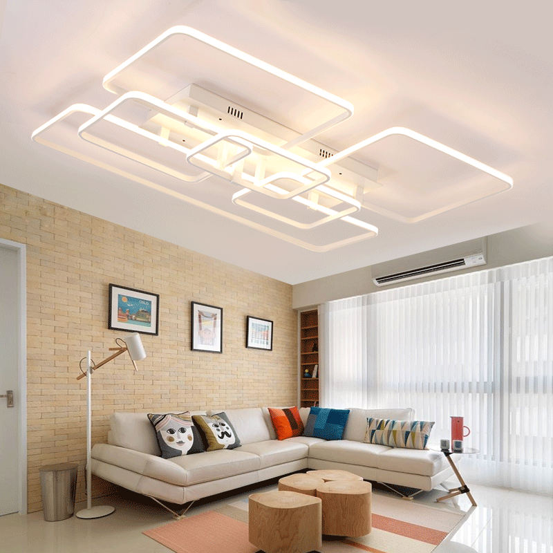 Square surface mounted modern led ceiling lights for - Living room ceiling light fixture ...