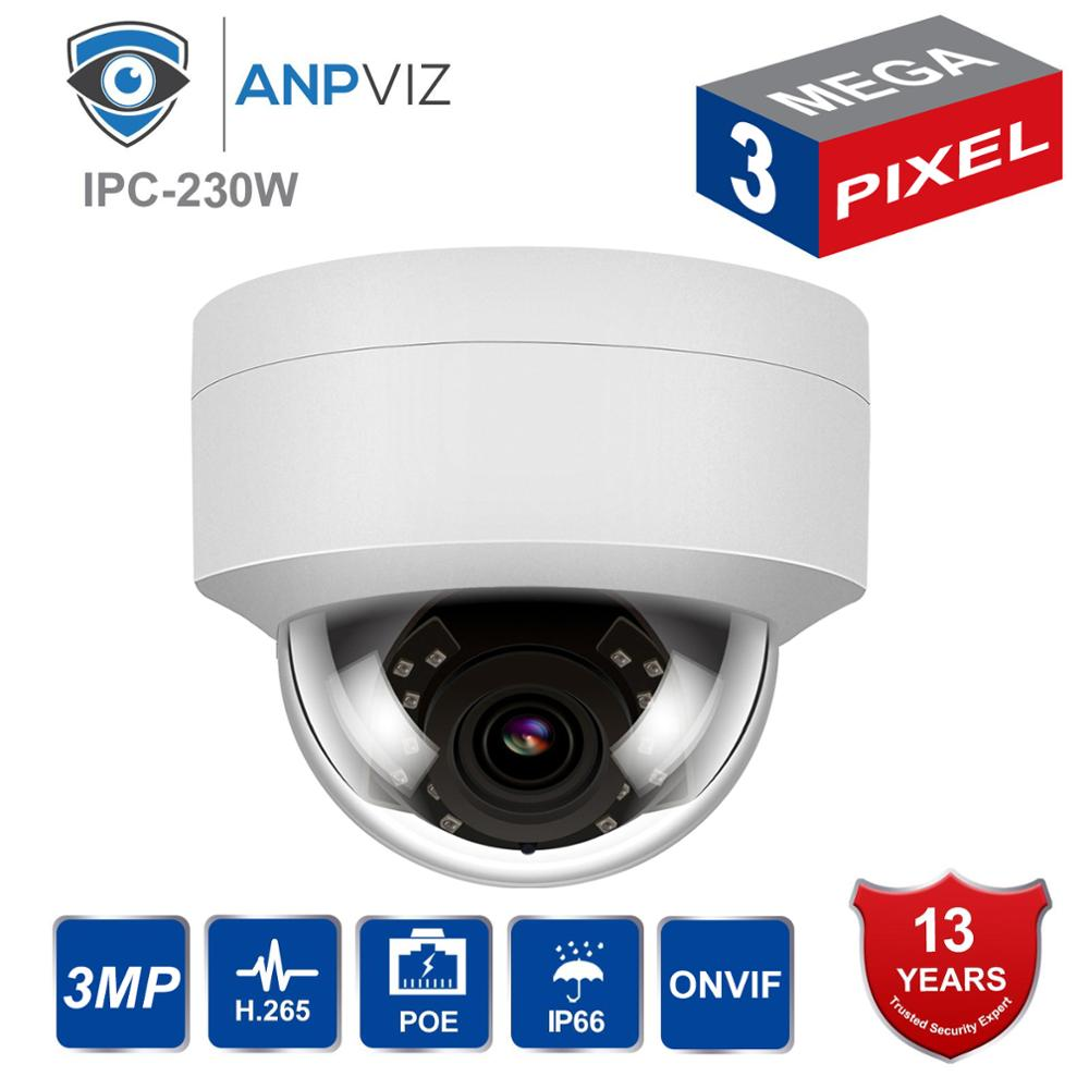 Hikvision Compatible 3MP PoE IP Dome Camera Security Outdoor Night Vision Weatherproof Cam ONVIF 2.8mm Replace With DS-2CD1121-I