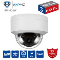 Hikvision Compatible 3MP PoE IP Dome Camera Security Outdoor Night Vision Weatherproof Cam ONVIF 2.8mm replace with DS 2CD1121 I