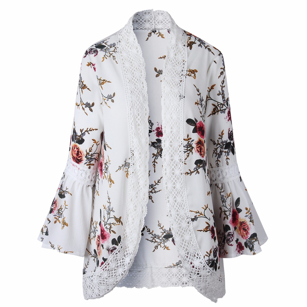 HTB1F NLjiCYBuNkSnaVq6AMsVXaA Autumn 2019 Boho Women Jacket Lace Flare Long Sleeve Slim Casual Open Stitch Tops Fashion Women Clothes Spring Shirt Coat Jacket