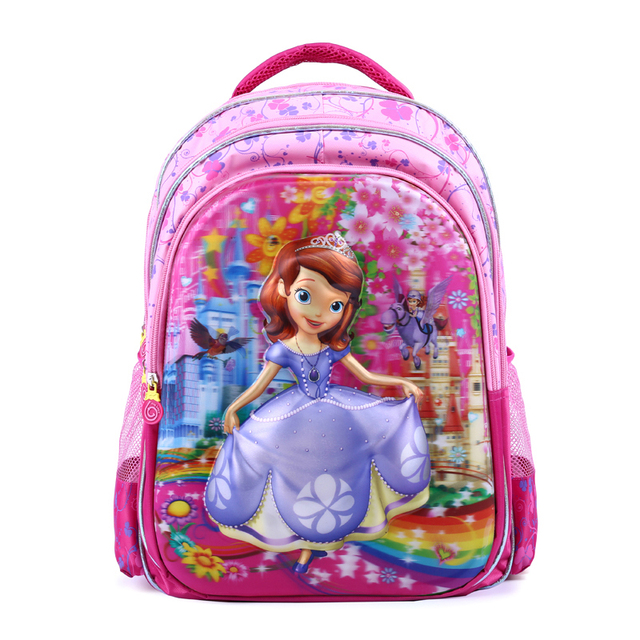 New arrival 5D Sophia princess school bags for girl cute baby book bag children backpacks kid schoolbag mochila escolar infantil