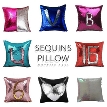Created Hot DIY Tone Glitter Sequins Pillows cover Cafe Home Decorative Cushion Case Novelty font b