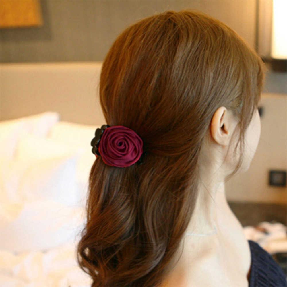 Nova moda grampo de cabelo barrette rosa garras de cabelo clipes crab grampo de cabelo hairpin headwear para as mulheres coreano acessórios de estilo de cabelo