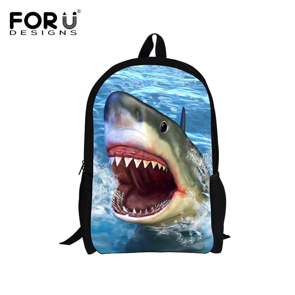 Underwater Animal Shark Backpack for Teenagers Boys 3D Printing Children School Backpacks Kids Bagpack Men's Travel Bag Mochila