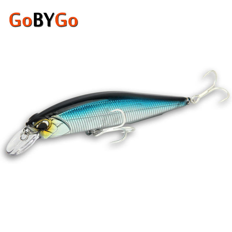 GoByGo 1PCS Minnow Floating Fishing Lure 10cm 14g Hard Wobblers Crankbait 3D Eyes Bait Artificial Trout Pike Carp Fishing Tackle