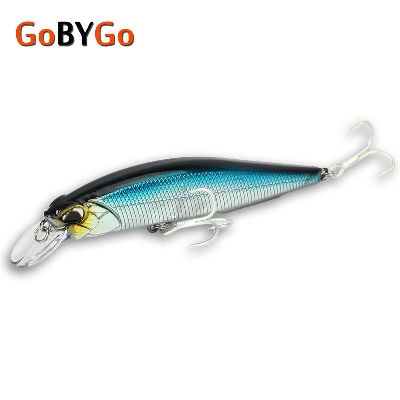 GoByGo 1PCS Minnow Floating Fishing Lure 10cm 14g Hard Wobblers Crankbait 3D Eyes Bait Artificial Trout Pike Carp Fishing Tackle