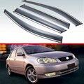 Для Toyota Corolla AE120 2001  2002  2003  2004  2005  2006  пластиковый внешний козырек  тенты на окна  защита от дождя