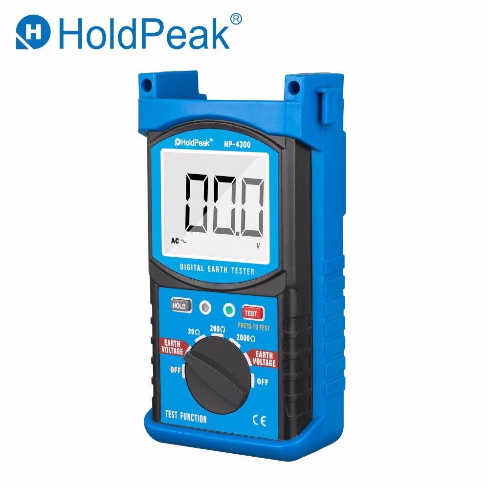 Nuovo Arrivo HoldPeak HP-4300 di Resistenza di Terra Tester LCD Digitale di Resistenza di Terra Tensione Megaohmmetro Voltmetro