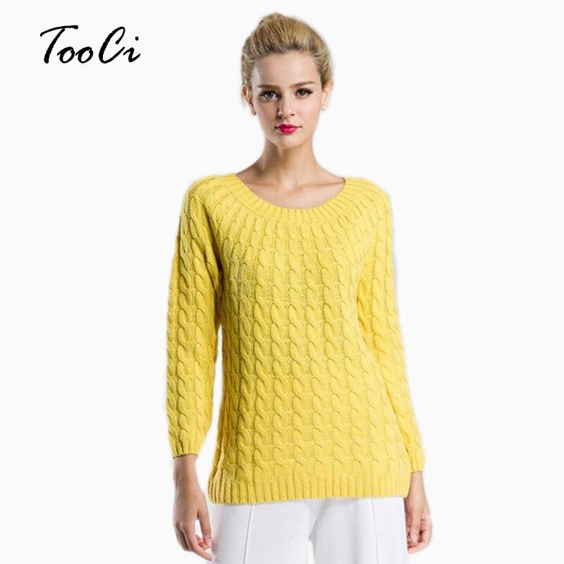 весна для женщин свитера карамельный цвет с круглым вырезом витой