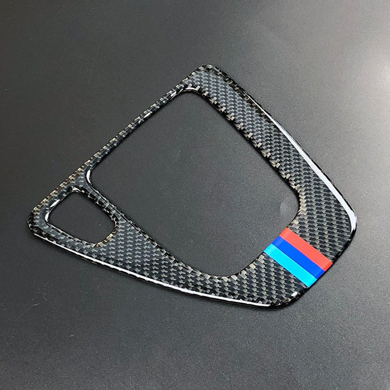Image 4 - For bmw e90 e92 e93 Interior Trim Carbon Fiber Gear Shift Control Panel Cover Sticker LHD Car styling 3 series accessories-in Car Stickers from Automobiles & Motorcycles