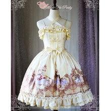Платье Lolita jsk с цветочным принтом и птицей; вечерние платья Magic tea