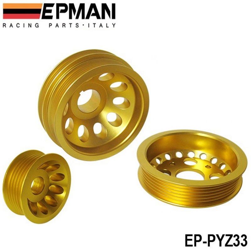 Light Crank Engine Under Drive Pulley Set Aluminium Alloy For Nissan 350Z Fairlady EP PYZ33