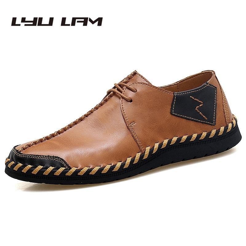 Casuais Até Mão Dos Masculinos Sapatos Homens À Sapato De Condução 47 Do vermelho Plus Preto Costura marrom Mocassins Size Eu38 Couro Loafer Rendas Natural Cavalheiro Vinho 6wXBzqYavx