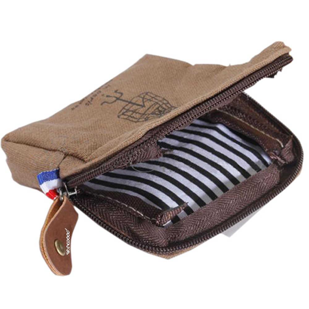 SANWOOD Mulheres Clássico Torre Canvas Coin Purse Pequenas Carteiras Chave Saco Da Moeda Do Cartão Bolsa Caso pequena carteira de lona para meninas sacos