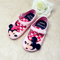 2017 Mini Melissa Jelly Sandals For Baby Girls Children Summer Cute Minnie Mouse and Cat Cartoon Beach Shoes Infantil Sandalia