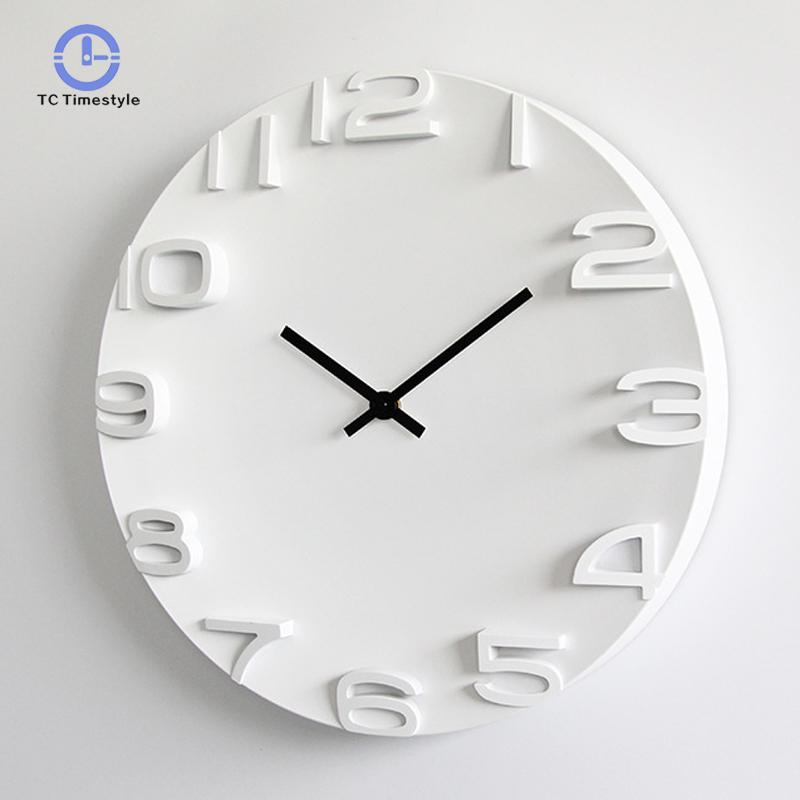 3d Wall Clock Simple Modern Design Nordic Brief Large Digital Watch For Bedroom Home Decor Silent 14 Inch Wall Clocks3d Wall Clock Simple Modern Design Nordic Brief Large Digital Watch For Bedroom Home Decor Silent 14 Inch Wall Clocks