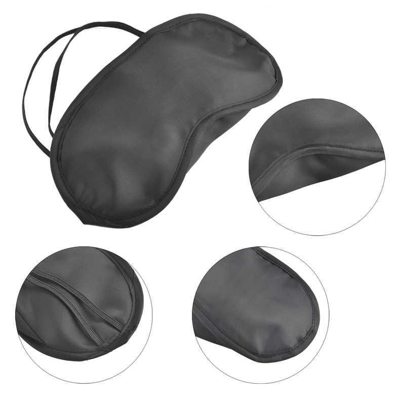 100 adet/grup Hediye Seyahat Uyku Göz Maskesi Siyah Gölge Körü Körüne göz bandı Gece Ekonomik ücretsiz kargo