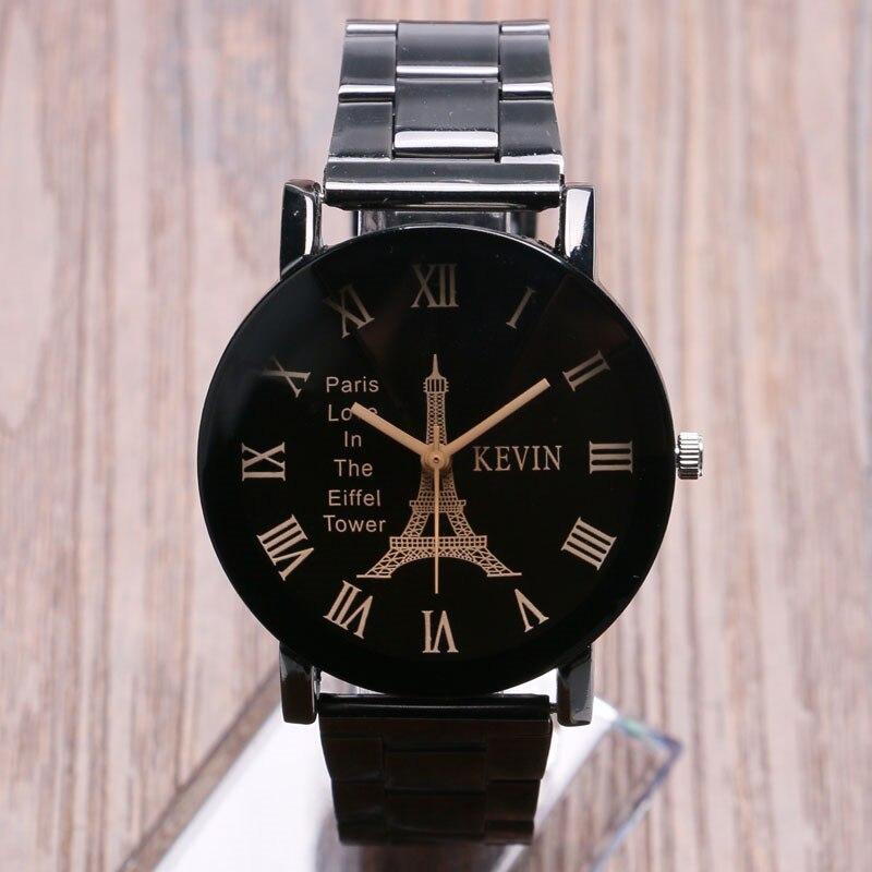 3e79dcff06c KEVIN Vintage Paris Torre Eiffel Dial Relógio de Pulso Das Senhoras Das  Mulheres Da Menina Relógios de Quartzo Presente para Namorada Cinta Preta  Relógio ...