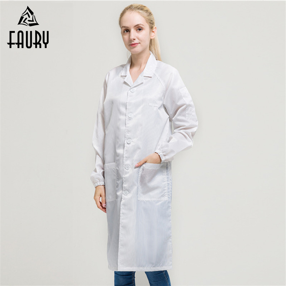 Men Women Working Uniforms Workwear Anti-static Dustproof Painting Overall Suit Collar Protective Worker Coat Factory Uniforms